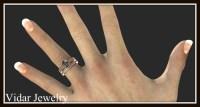 Black Diamond Wedding Ring Set | Vidar Jewelry - Unique ...