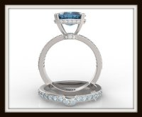 London Blue Topaz Wedding Ring Set | Vidar Jewelry ...