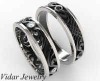 His and Hers Matching Wedding Band Set | Vidar Jewelry ...