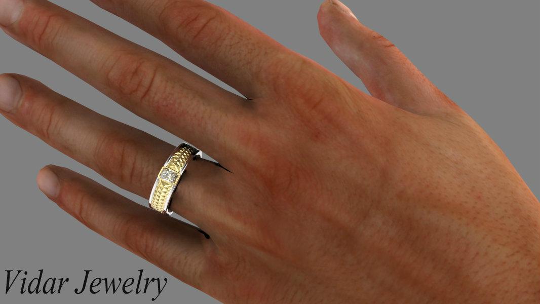 Radiant Cut Diamond Wedding Ring Vidar Jewelry Unique