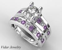 Unique Diamond Bridal Ring Set | Vidar Jewelry - Unique ...