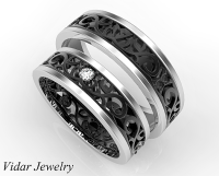 Unique Matching Wedding Bands His And Hers | Vidar Jewelry ...