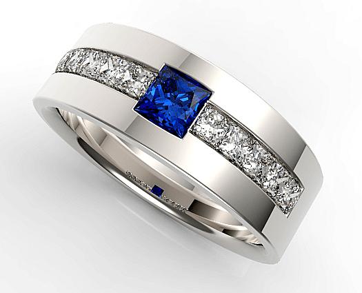 Mens Sapphire Ring Vidar Jewelry Unique Custom