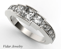 Channel Set Diamond Wedding Band For Womens | Vidar ...