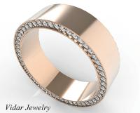 Rose Gold Morganite Mens Wedding Band   Vidar Jewelry ...
