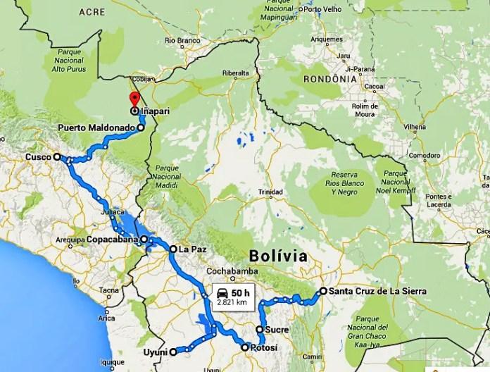 Vida sem Paredes - preços de ônibus na Bolívia (2)