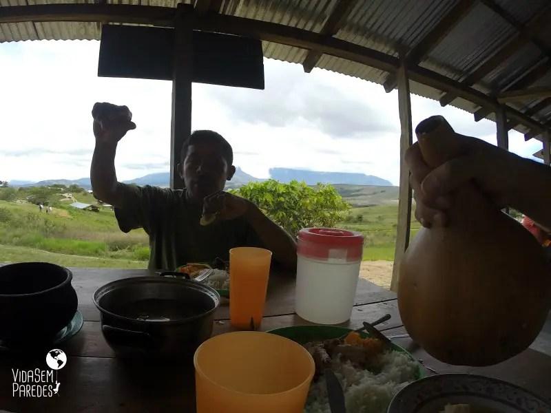 Pratos da culinária pemón, índios da Venezuela