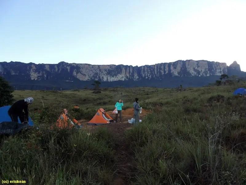 acampamentos no Monte Roraima: Militar