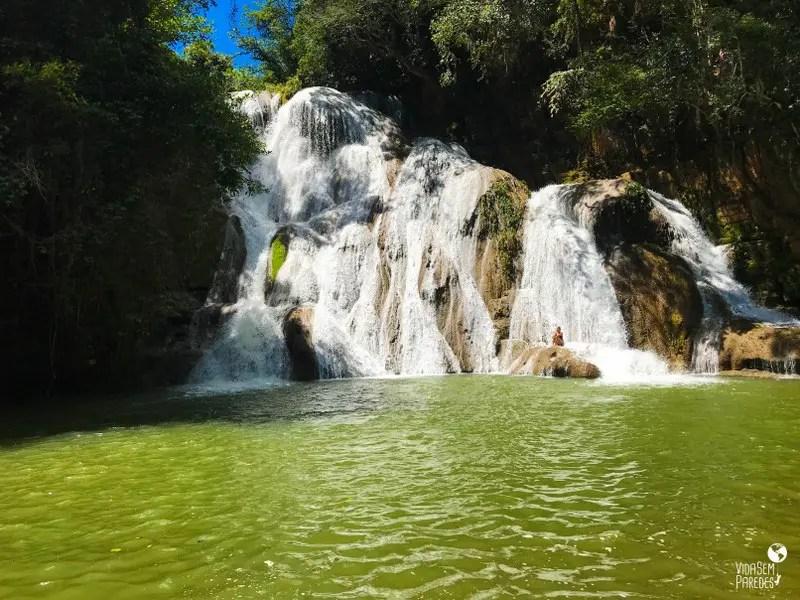 O que fazer em Mambaí, Goiás: cachoeira Paraíso do Cerrado