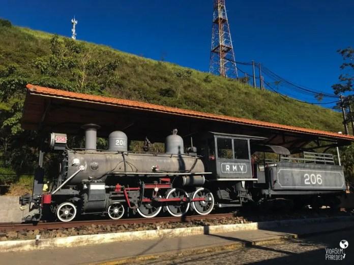 O que fazer em Conservatória - RJ: Locomotiva 206