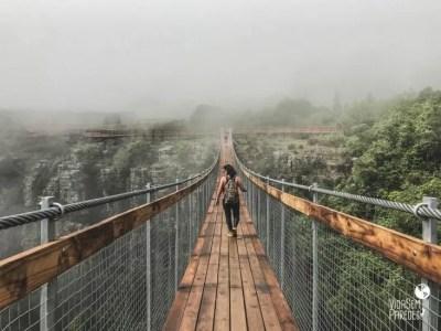 Ponte suspensa do complexo Gorge Lift
