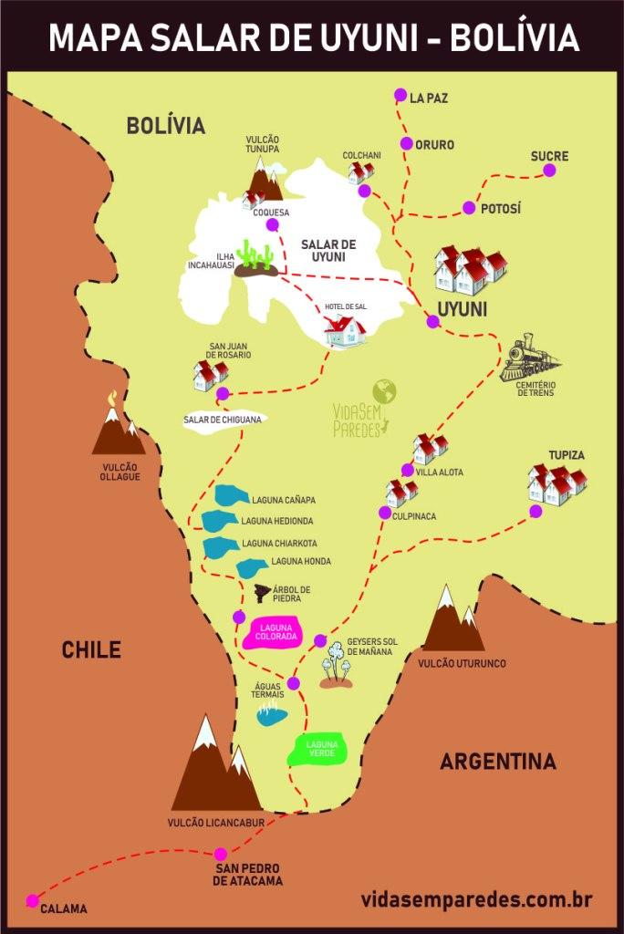 Mapa Salar de Uyuni