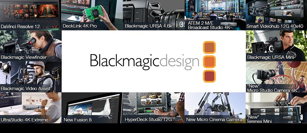 Blackmagic Design :: World's Leading Innovators in :: Capture, Encoding, Converters, 4K Cameras, Switchers, Color Correction