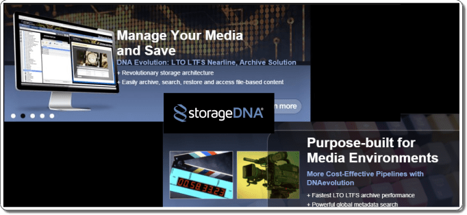 Data Archiving & Asset Management Storage DNA