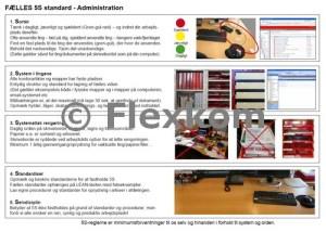 Eksempel på en 5S standard for Lean i administrationen