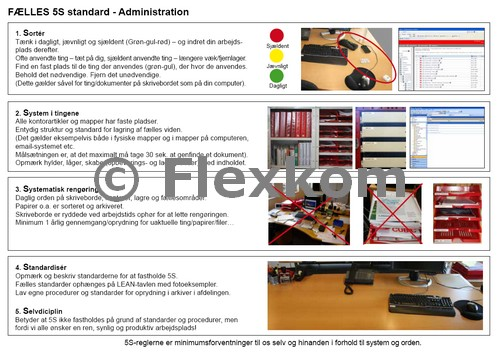 5S standard Lean Administration
