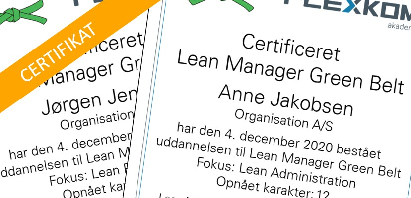 Lean Manager Green Belt Uddannelse