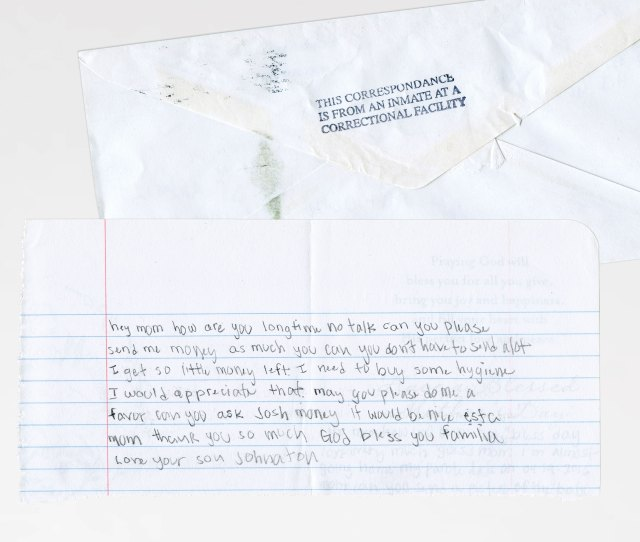 Johnathan Namauleg Often Began His Prison Letters To His Mother With A 12 Word Greeting Miss You Guys So Much How U Been Long Time No See