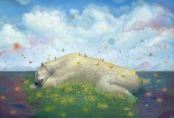 Hyperreal Polar Bear Paintings Sweet