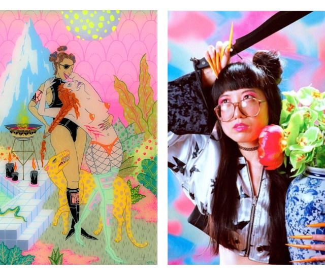L Come Closer Kristen Liu Wong R The Artist Photographed By Parker Day Via Instagram