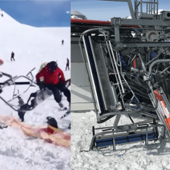 Ski Chair Lift Malfunction Kitchen Table Chairs Set Horrifying In Georgia Throws People From Their