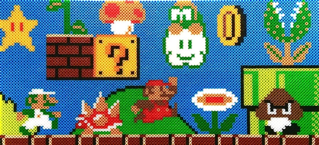 hight resolution of inside the pixelated world of perler bead art