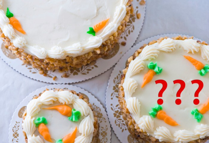 Why Does Carrot Cake Need To Remind Us That It Is In Fact Made Of