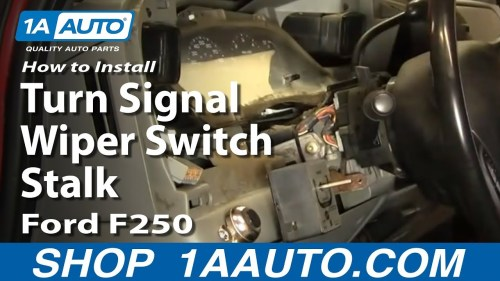 small resolution of how to replace combination switch 02 07 ford f250 super duty truck 1a auto