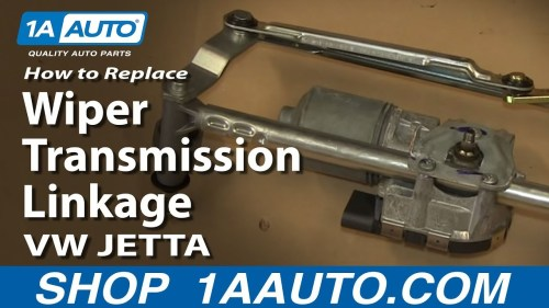 small resolution of how to replace windshield wiper transmission linkage 05 13 volkswagen jetta 1a auto