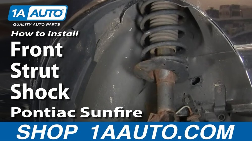 medium resolution of how to replace front strut spring assembly 95 99 pontiac sunfire 1a auto