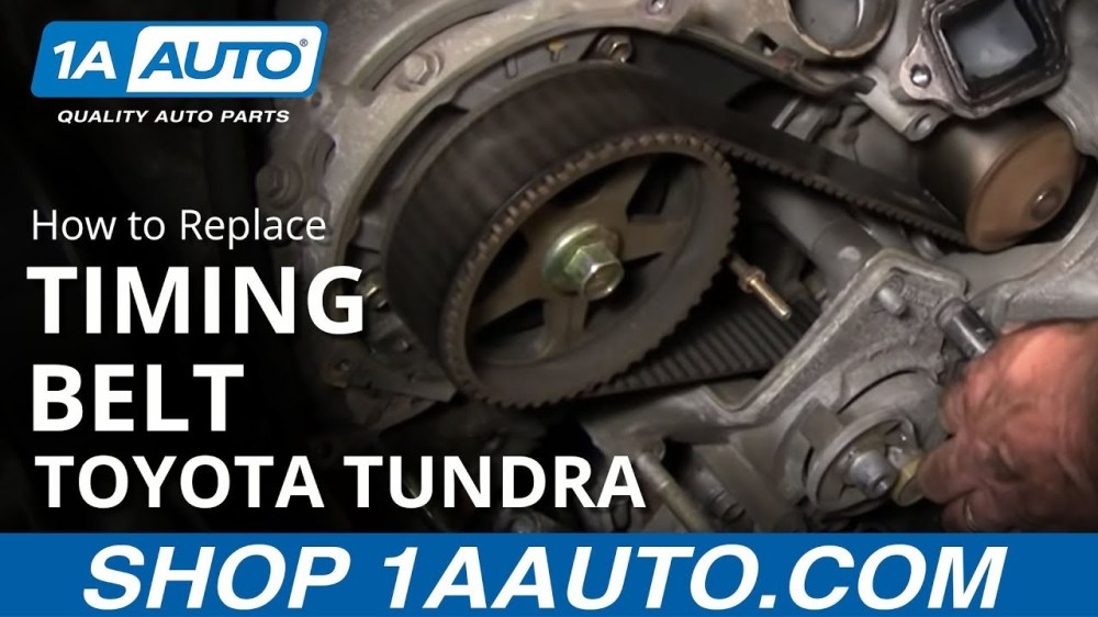 medium resolution of how to replace toyota tundra timing belt 2002 v8 disassemble front of engine part 1 1aauto com 1a auto