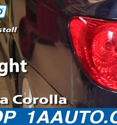 how to replace tail light 03 04 toyota corolla [ 1280 x 720 Pixel ]
