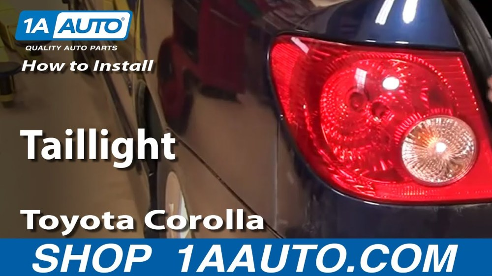 medium resolution of how to replace tail light 03 04 toyota corolla