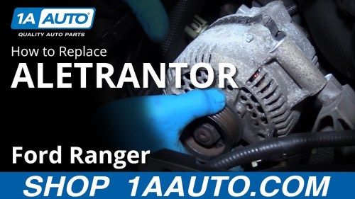 small resolution of how to replace alternator 98 12 ford ranger 4 0l v6