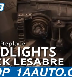 how to replace headlights 00 05 buick lesabre 1a auto buick lucerne headlight wiring  [ 1280 x 720 Pixel ]