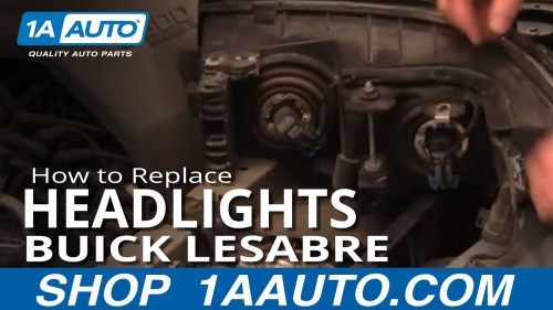 small resolution of  how to replace headlights 00 05 buick lesabre 1a auto buick lucerne headlight wiring