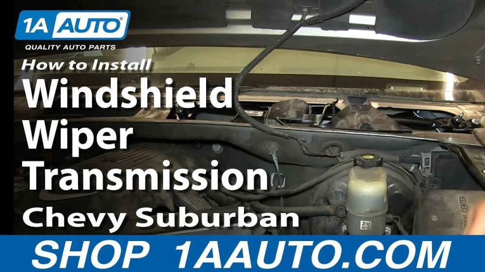 medium resolution of how to replace windshield wiper transmission 99 03 chevy silverado 1a auto