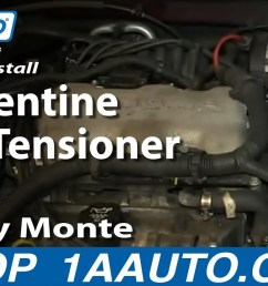 how to replace serpentine belt tensioner 95 05 chevy monte carlo 1a auto [ 1280 x 720 Pixel ]