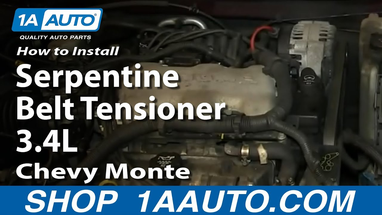 hight resolution of how to replace serpentine belt tensioner 95 05 chevy monte carlo 1a auto