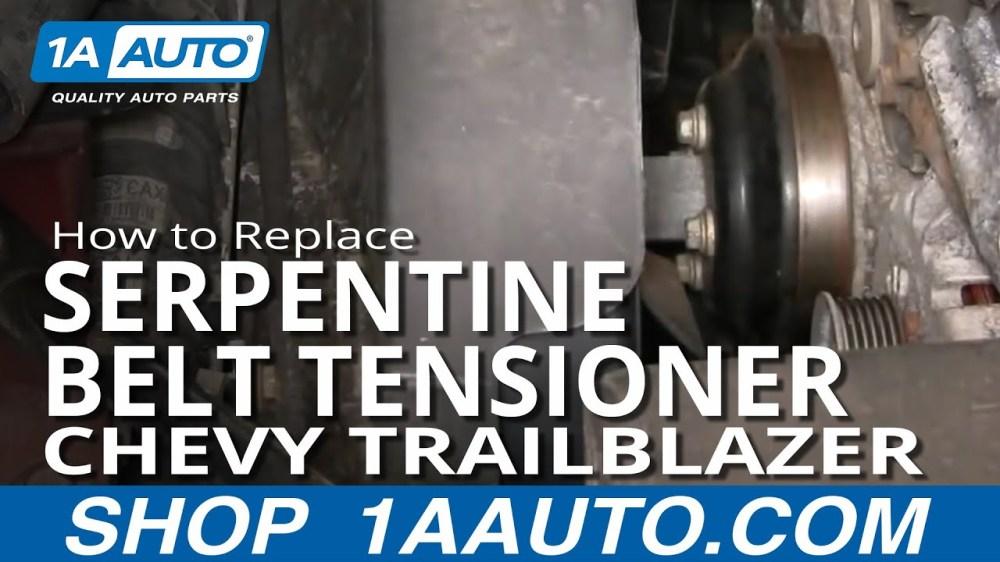 medium resolution of how to replace serpentine belt tensioner 02 05 chevy trailblazer 1a auto