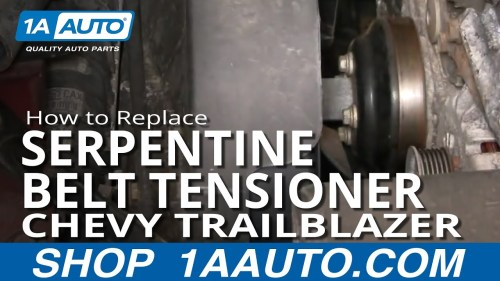 small resolution of how to replace serpentine belt tensioner 02 05 chevy trailblazer 1a auto