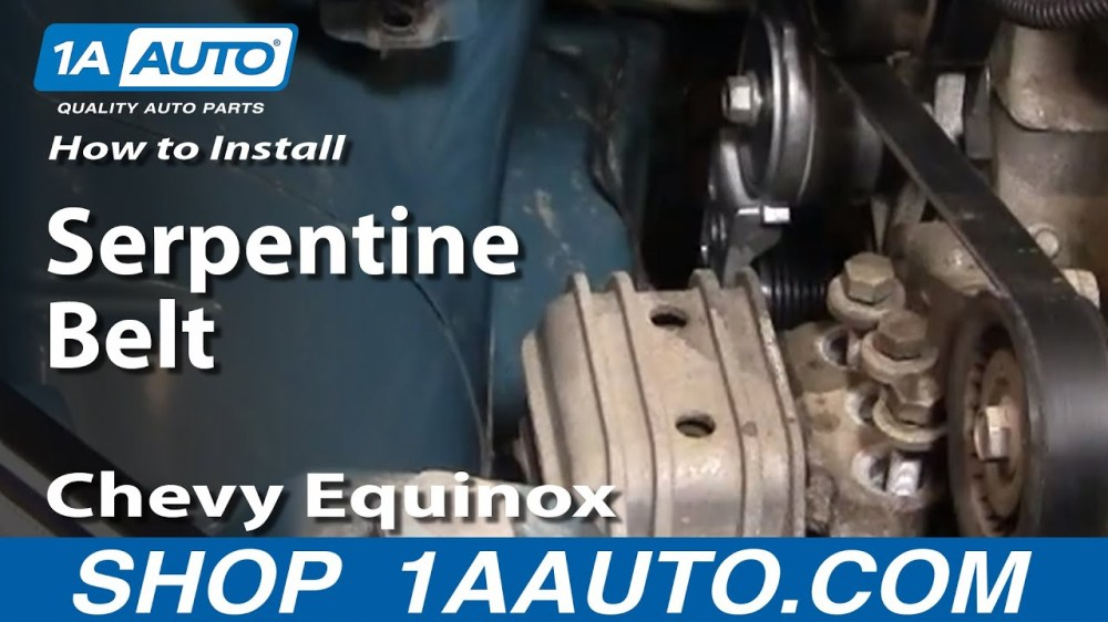 medium resolution of how to replace serpentine belt idler pulleys 05 09 chevy equinox 1a auto