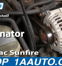 how to replace alternator 96 98 pontiac sunfire 1a auto05 cavalier engine wiring harness routing  [ 1280 x 720 Pixel ]