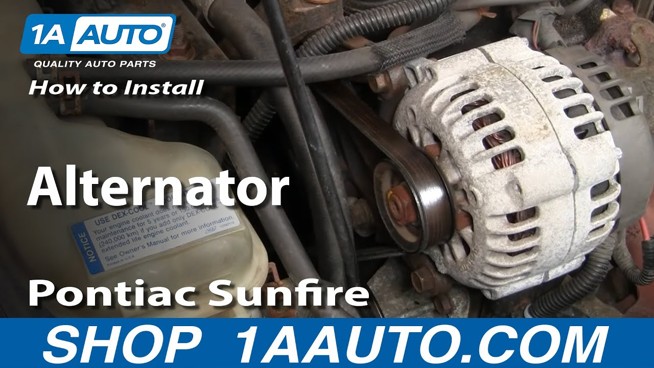 hight resolution of how to replace alternator 96 98 pontiac sunfire 1a auto05 cavalier engine wiring harness routing