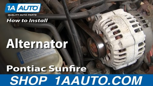 small resolution of how to replace alternator 96 98 pontiac sunfire 1a auto05 cavalier engine wiring harness routing
