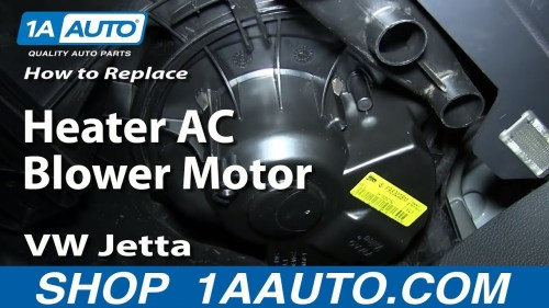 small resolution of how to replace blower motor with fan cage 05 08 volkswagen jetta 1a auto