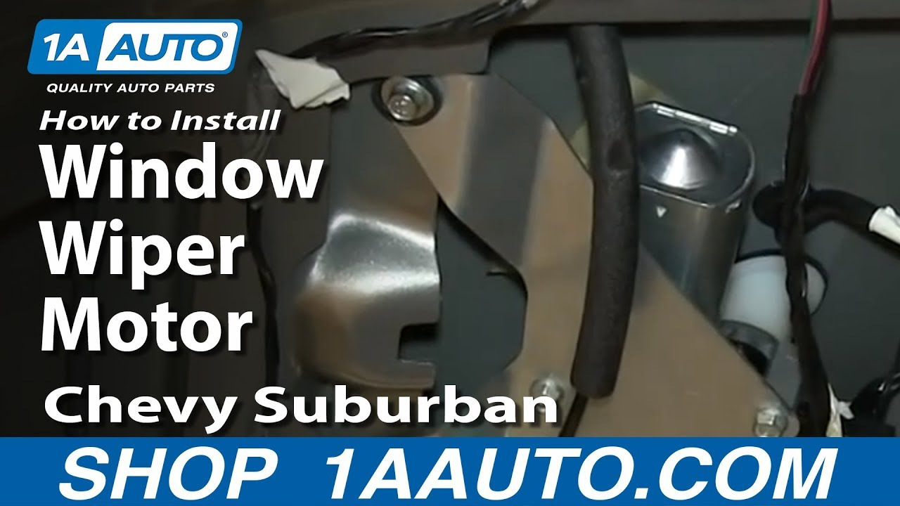 2001 Jeep Cherokee Window Switch Wiring How To Install Replace Rear Window Wiper Motor 2000 06