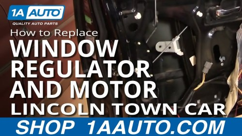 small resolution of how to replace window regulator with motor 98 11 lincoln town car part 1 1a auto