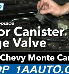 how to replace vapor canister purge solenoid 00 05 chevy monte carlo 1a auto [ 1920 x 1080 Pixel ]
