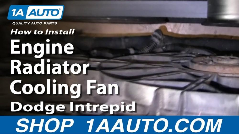 medium resolution of 1998 dodge intrepid radiator